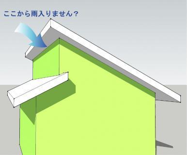 変な屋根片流れ