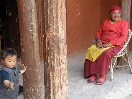 Alchi Choskor soichi and monk