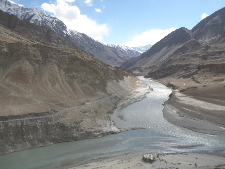 Indus and Zanskar river the end of April