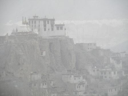 Lamayuru Gonpa snow