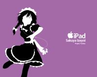 Konachan.com - 40673 ipod izayoi_sakuya parody purple silhouette touhou