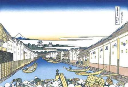 葛飾北斎「江戸日本橋」(富嶽三十六景)