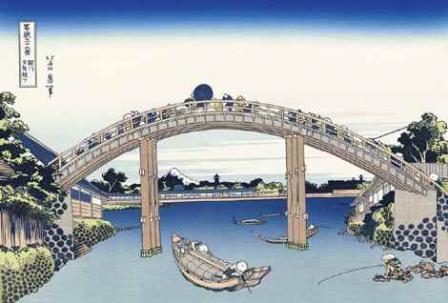 葛飾北斎「深川万年橋下」(富嶽三十六景)