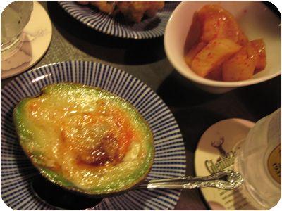 アボカド焼き+カクテキ