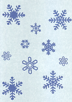 雪の結晶はんこ