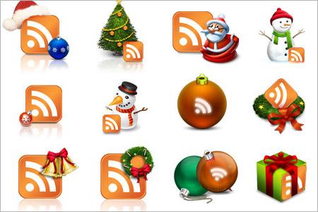 クリスマス用RSSアイコン1