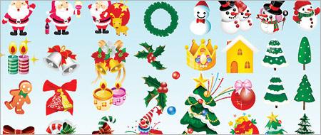 クリスマスアイコンのEPSファイル