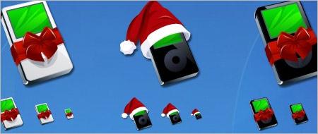 クリスマス用iPodアイコン