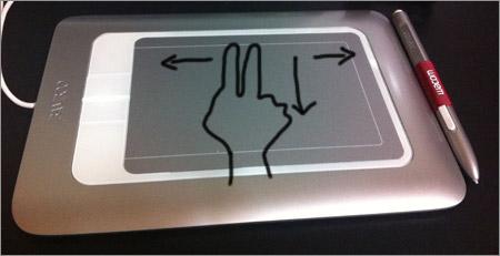 指スクロール
