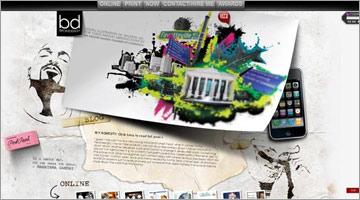 水彩画の効果を使って表現されているwebデザイン集35
