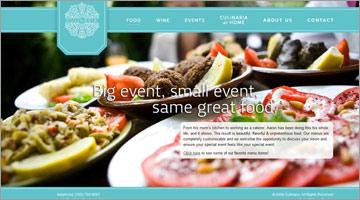 レストラン等のwebデザイン集