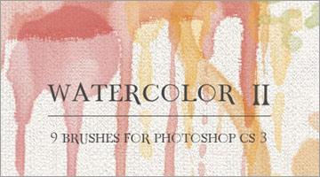 水彩画風なphotoshopブラシ50