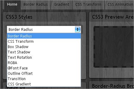 CSSスタイルメニューを開く