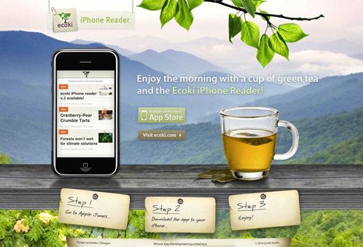 大き目の画像を背景にしたwebデザイン1