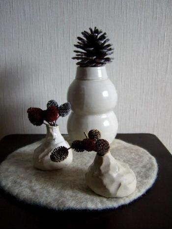 雪だるまとニンニク