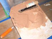 能登珪藻土塗り体験会の様子