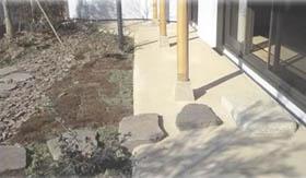自然素材土間(タタキ)