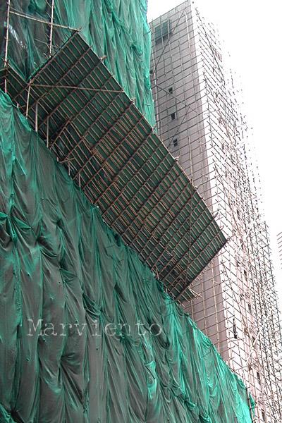香港の竹棚