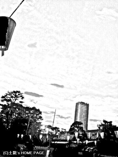 モノクロ処理 空と雲と