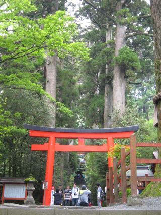 新月の日に箱根神社に行ってきました