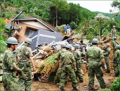 自衛隊災害救助活動