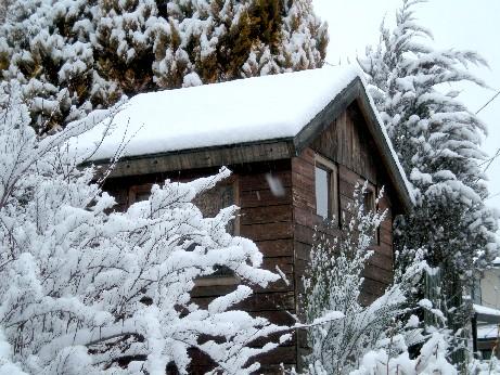 雪のシェッド