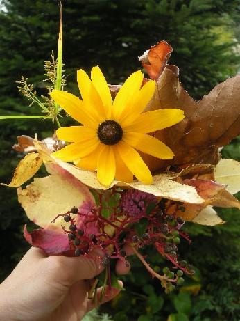 秋色のコサージュ1