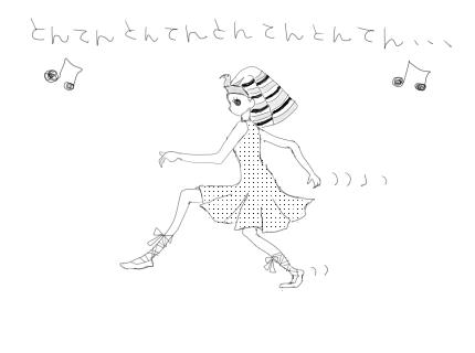 最近購入したCDを聴いていて、浮かんだ絵を描いてみた。(エジプトの夜)