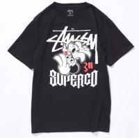 STUSSY x Super Co. 30th コラボTシャツ