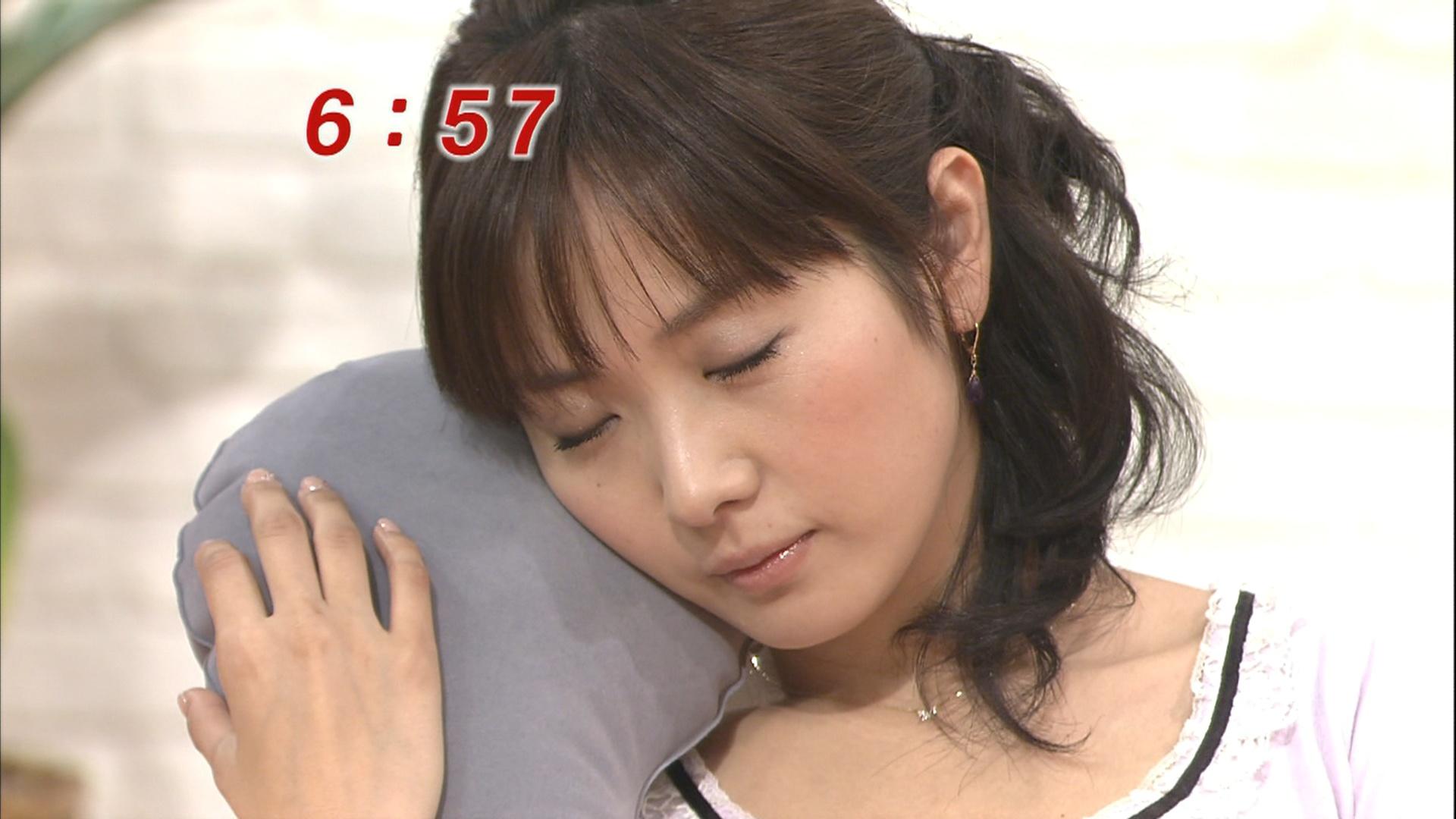 高島彩 めちゃくちゃきれいな寝顔キャプ画像(エロ・アイコラ画像)