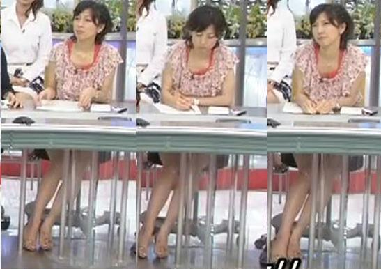 竹内香苗 机のしたのミニスカートキャプ画像(エロ・アイコラ画像)