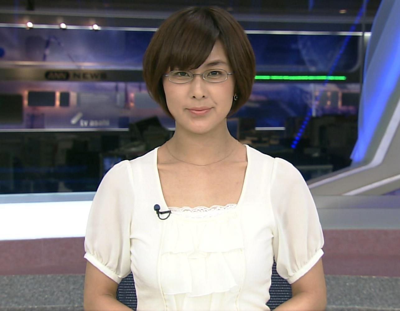 萩野志保子 セクシーメガネアナウンサーキャプ画像(エロ・アイコラ画像)