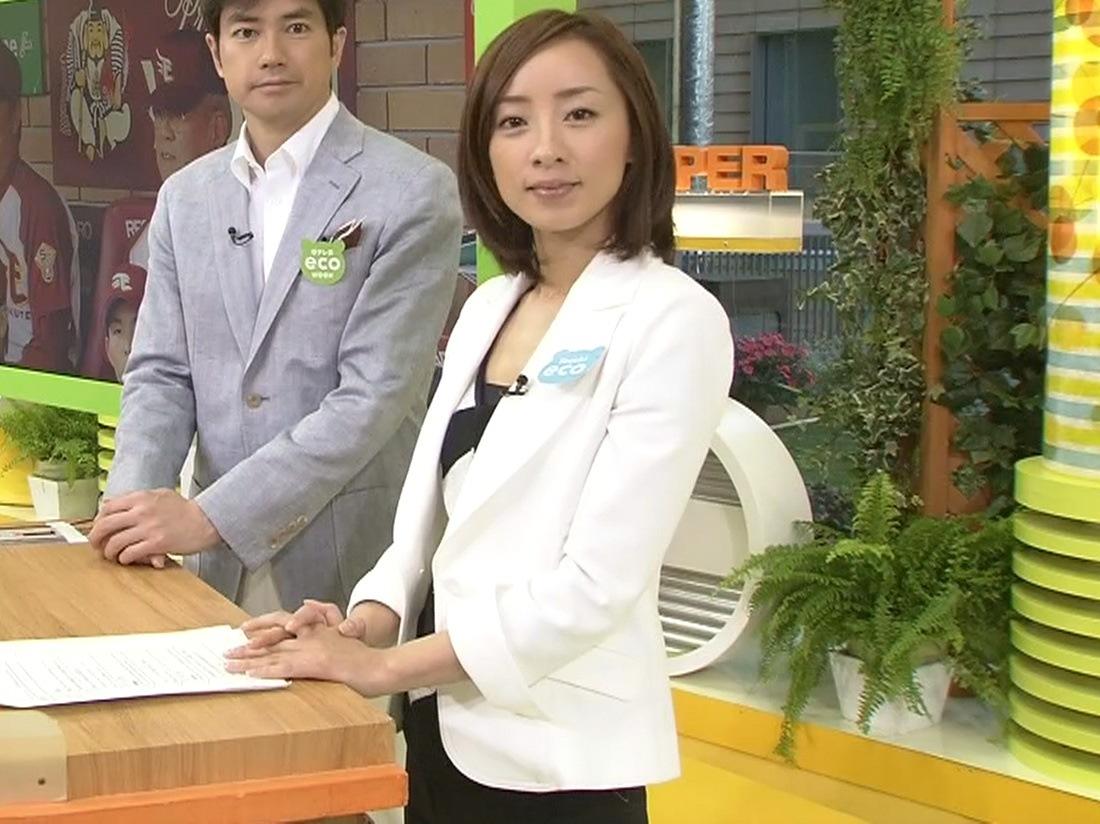 西尾由佳理 最近は胸元が開いている服が多いキャプ画像(エロ・アイコラ画像)