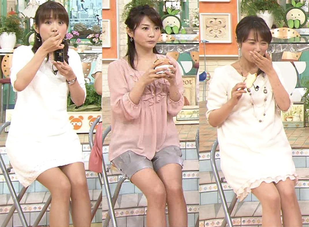 高島彩 ミニスカ太ももキャプ画像(エロ・アイコラ画像)