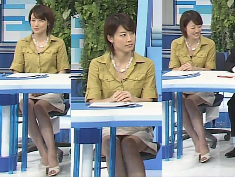 佐藤良子 ミニスカのデルタゾーン 白い美脚キャプ画像(エロ・アイコラ画像)