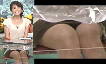 高島彩 最近のミニスカート パンチラあり!