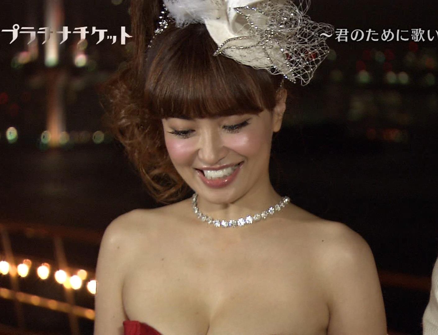 平子理沙 おっぱい超露出ドレスキャプ画像(エロ・アイコラ画像)