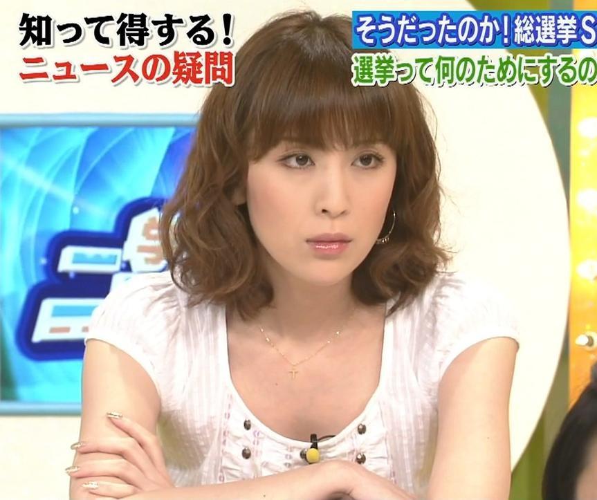 雛形あきこ 胸元が開いた服キャプ画像(エロ・アイコラ画像)