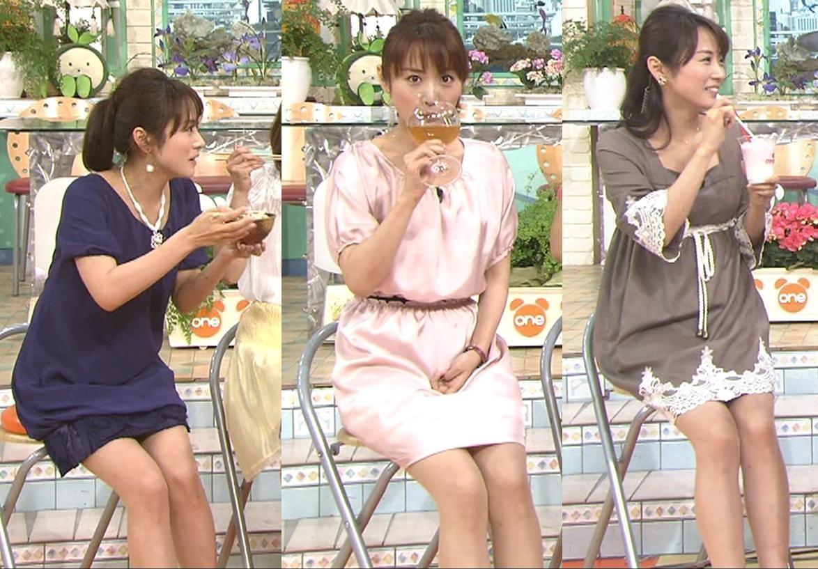 高島彩 ミニスカ太ももチラチラキャプ画像(エロ・アイコラ画像)