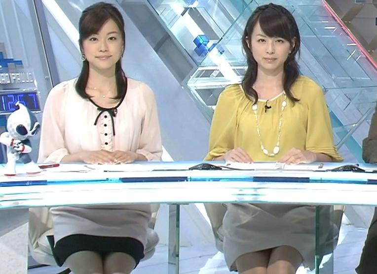 平井里央 本田朋子 ダブルミニスカートキャプ画像(エロ・アイコラ画像)