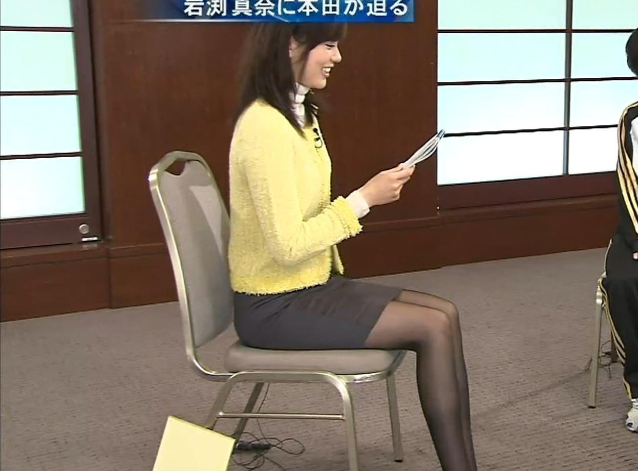 本田朋子 ミニスカ&黒パンストキャプ画像(エロ・アイコラ画像)