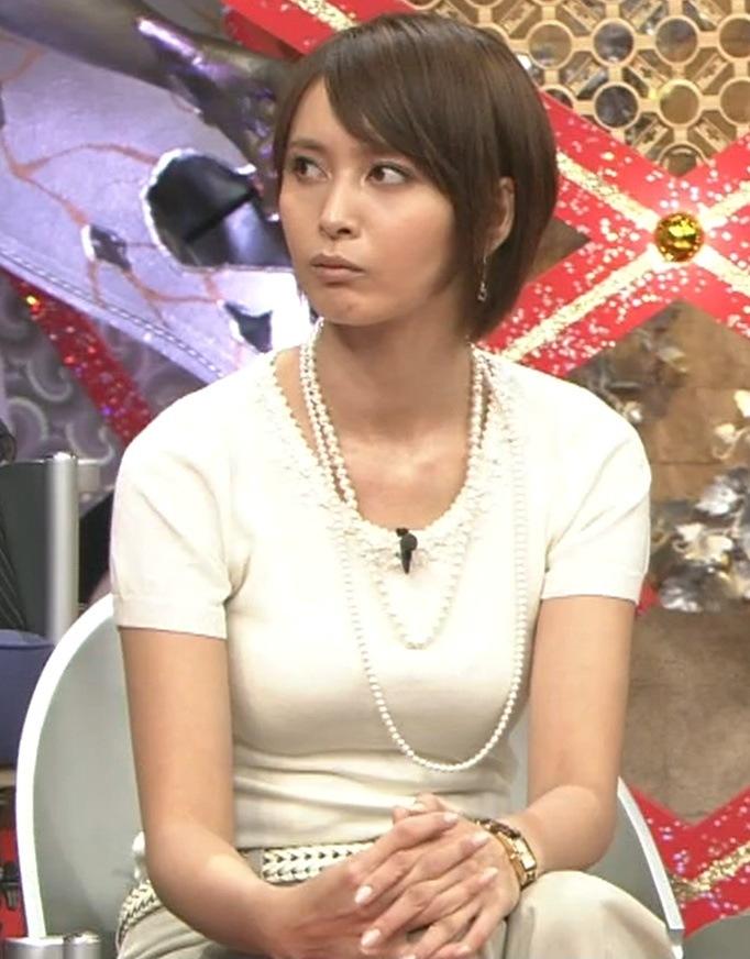 加藤夏希 胸の大きさが強調された服キャプ画像(エロ・アイコラ画像)