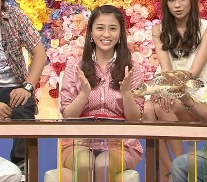 小林麻央 ミニスカートのデルタゾーンキャプ画像(エロ・アイコラ画像)