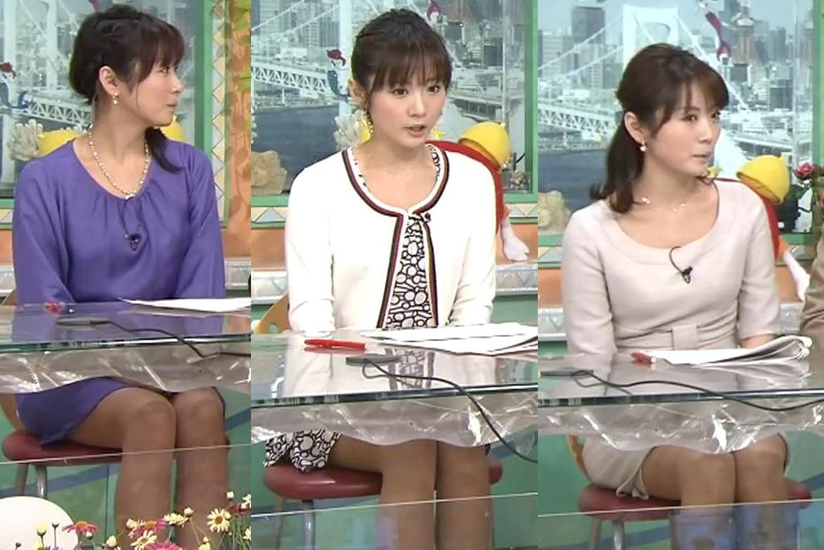 高島彩 朝のエロ番組 机の下のミニスカートキャプ画像(エロ・アイコラ画像)