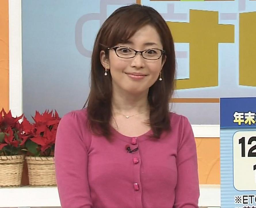 延友陽子 巨乳メガネ美人アナキャプ画像(エロ・アイコラ画像)
