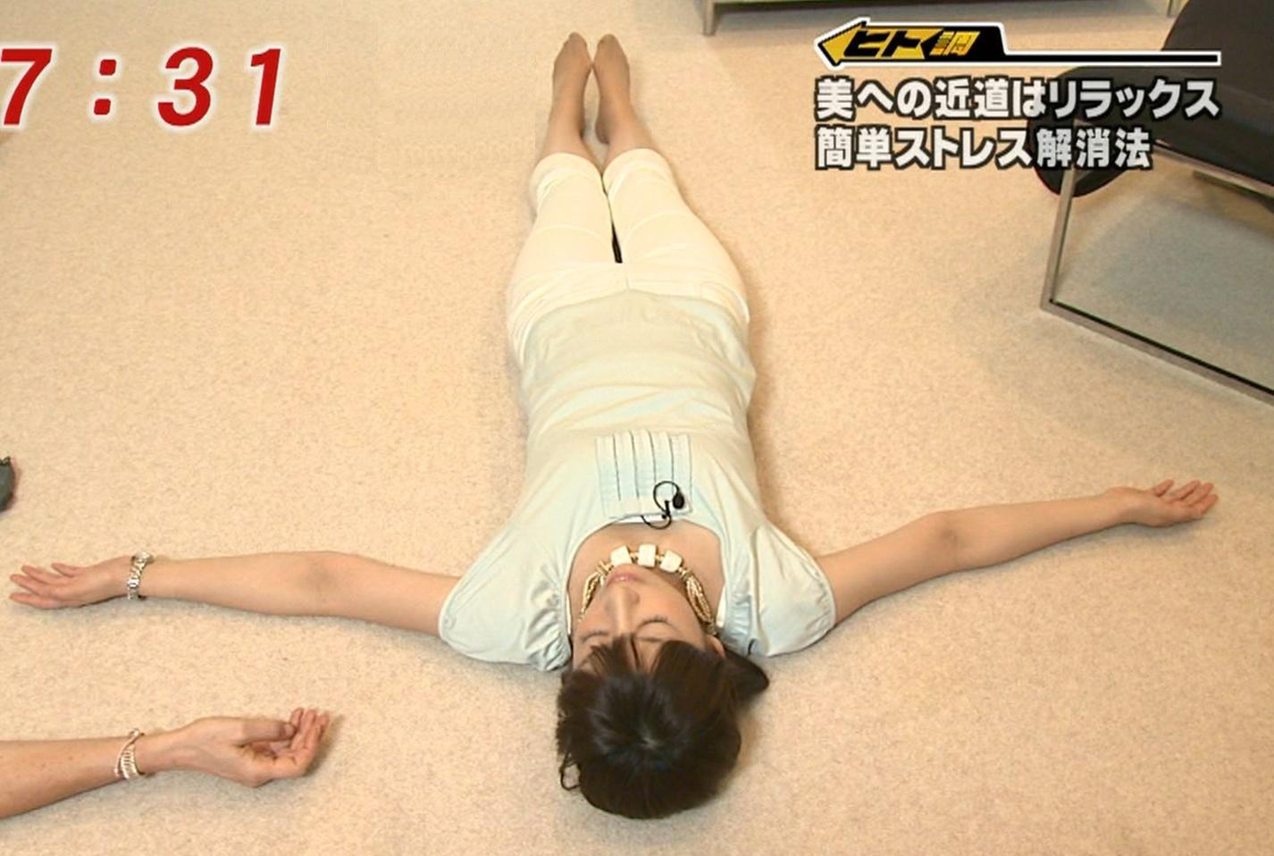 生野陽子 大の字に寝るキャプ画像(エロ・アイコラ画像)