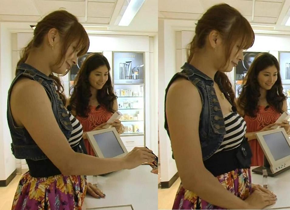 八田亜矢子 胸の大きさがわかる服。かなり巨乳だ・・・キャプ画像(エロ・アイコラ画像)