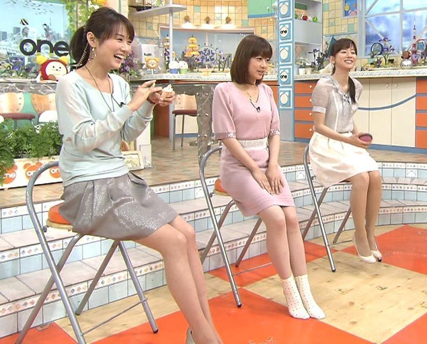 めざまし3美人の美脚キャプ画像(エロ・アイコラ画像)