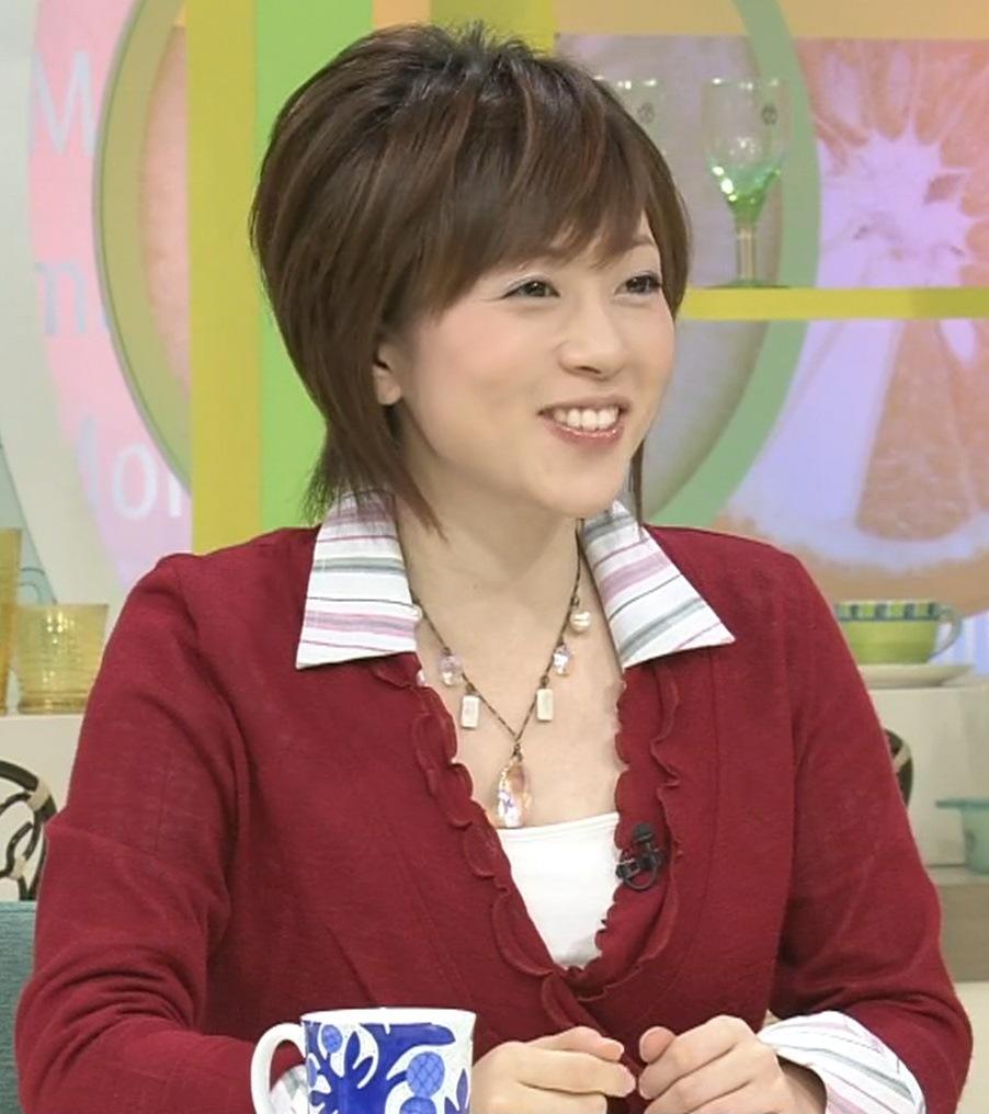 津野瀬果絵 巨乳アナの胸元キャプ画像(エロ・アイコラ画像)
