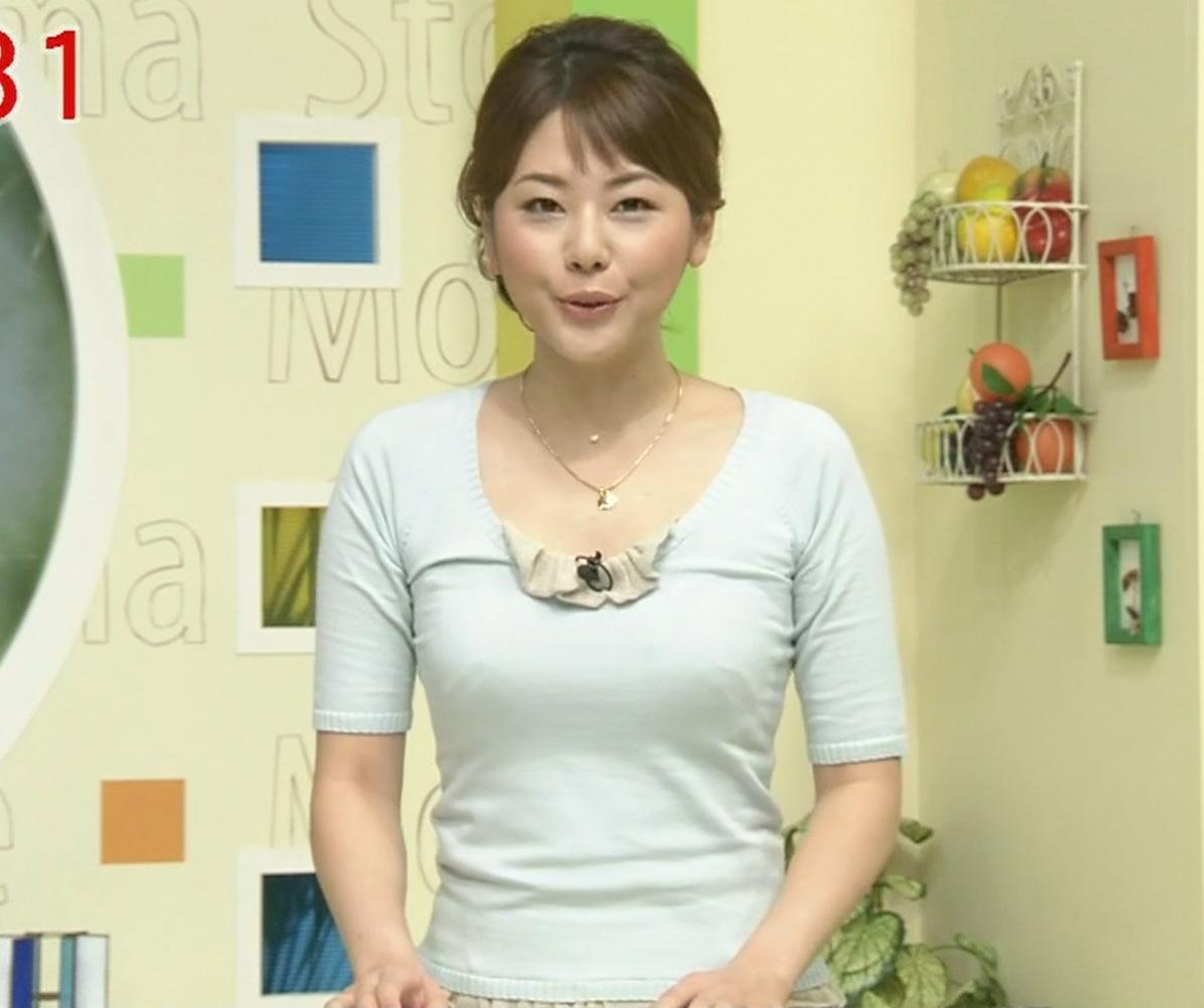 出口麻綾 巨乳アナのぴったり服キャプ画像(エロ・アイコラ画像)